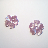 Heart buttons, lilac