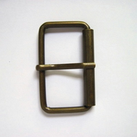 Buckle, antique brass, 2""