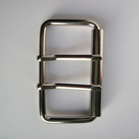 Double silver buckle, 2""
