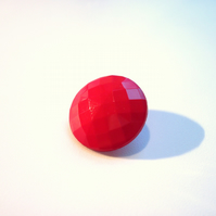 Round gem buttons - Red