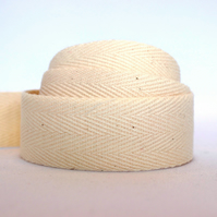 Light weight cotton webbing- NATURAL