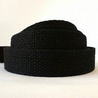Heavy weight cotton webbing- BLACK