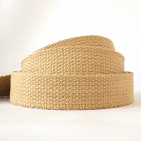 Heavy weight cotton webbing- CREAM