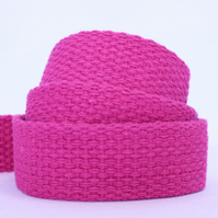 Heavy weight cotton webbing- PINK