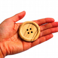 Large wooden buttons 5cm