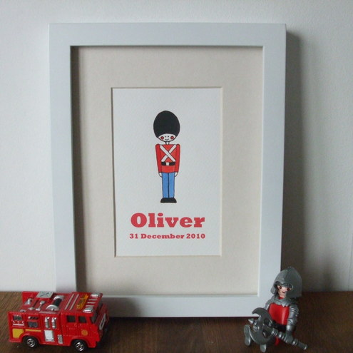 Boy's handpainted toy soldier picture