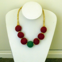 Felt Ball Necklace
