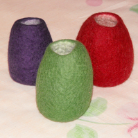 Small felted pot