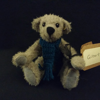 Traditional mohair teddy bear