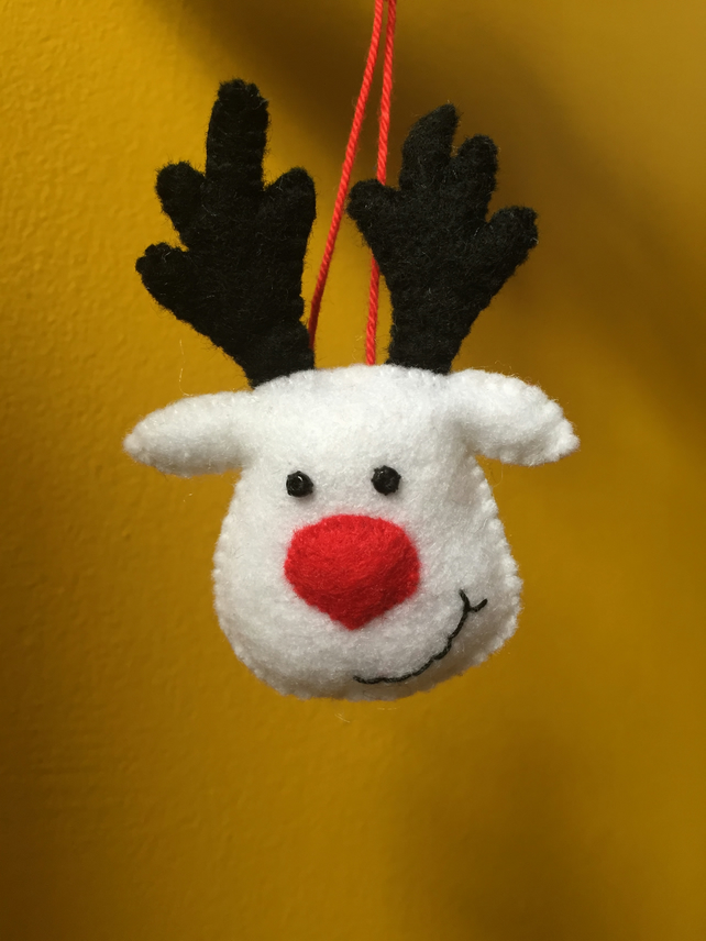 Christmas Reindeer hanging bauble decoration