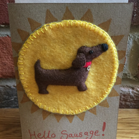 Hello Sausage - Sausage dog greetings card