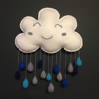 Cloud raindrops wall hanging
