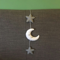 Star and moon wall hanger