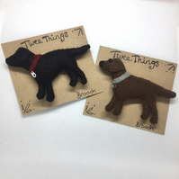 Labrador brooch or keyring