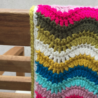 Summer Ripple crochet baby blanket