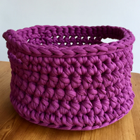 Crochet basket - large purple