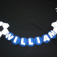 Personalised Football Name banner for Wall or door