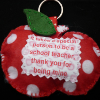 Teachers message apple keyring