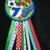 Birthday badge-Rosette Football