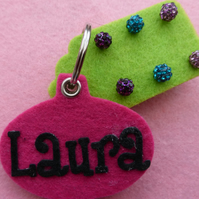 Personalised Keyring with earring holder