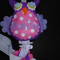 Personalised Owl Hair Clip Hanger - tidy