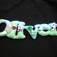 Personalised Name banner - Farm Theme