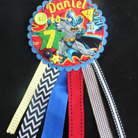 Birthday badge-Rosette Batman