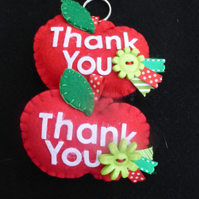 Teachers 'Thank You' apple keyring