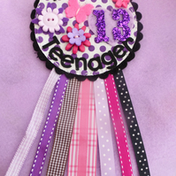 Birthday badge-Rosette Teenager