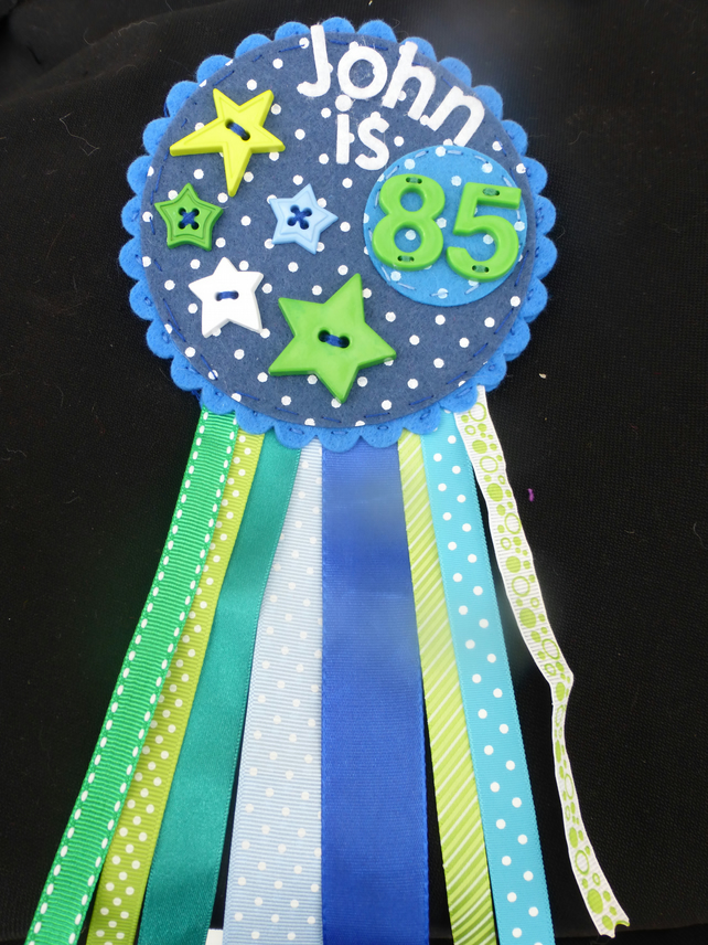 Birthday badge-Rosette - Male - Age