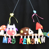 Personalised Woodland Twig name banner