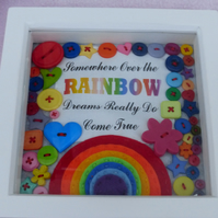 Somewhere over the Rainbow - Handmade Felt and button Picture