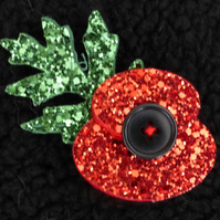 Felt Sparkly Poppy Brooches