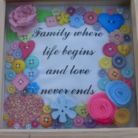Family - Handmade Felt and button Picture