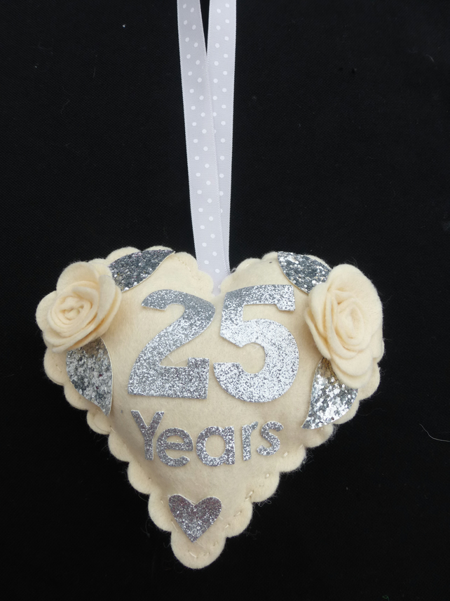 Personalised Door hanger for Silver Wedding Anniversaey