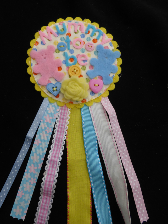 Mummy to be badge-Rosette - Twins