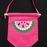 Water melon mini wall banner, Canvas wall banner, Childrens room