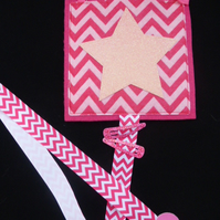 Sparkly Star  Hairclip hanger can be personalised