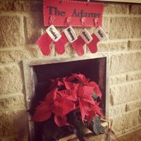 Personalised Family Christmas Stockings For four family stockings