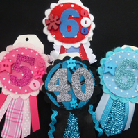Birthday badge - can be personalised