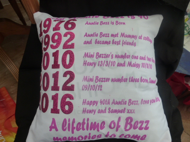 Memory and keepsake cushion - Personalised with dates