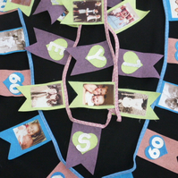 Memory banners with photographs