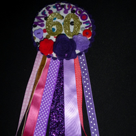 Birthday badge-Rosette- Birthday - female