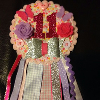 Birthday Bow  badge-Rosette- Female