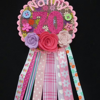 Birthday badge, rosette - Nanny