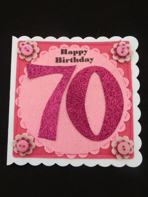 70th Birthday age card