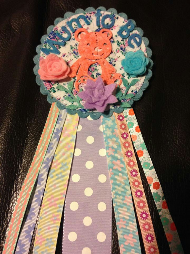 Mum to be badge-Rosette