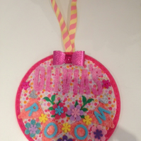 Pretty personalised Door hanger for girls