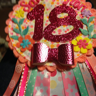 18th Birthday Age badge-Rosette Personalised