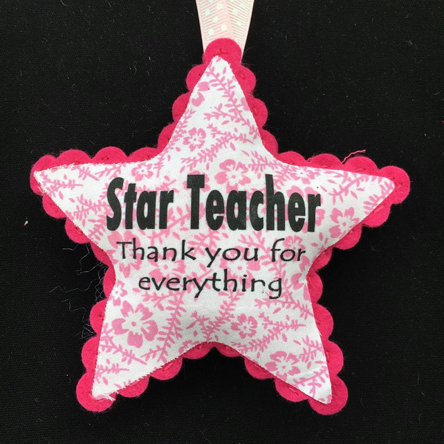 Personalised Door hanger Teacher star